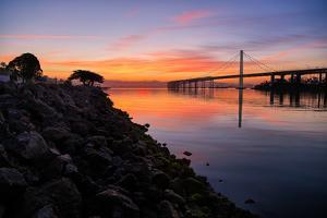 Sunrise Reflections, East Span of the Bay Bridge, San Francisco, California by Vincent James