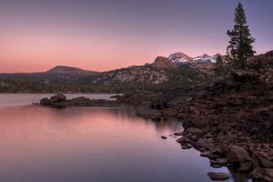 Sunset at Caples Lake, Sierra Nevada by Vincent James