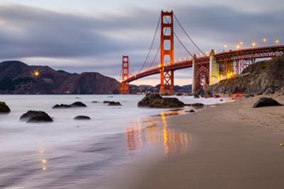 Sunset at Marshall Beach, Golden Gate Bridge, San Francisco California