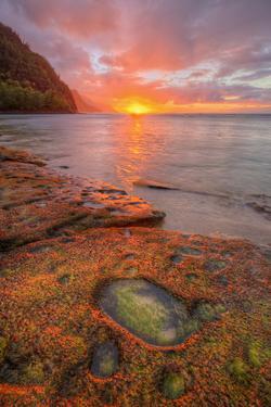 Sunset at Na Pali Coast, Kauai Hawaii by Vincent James
