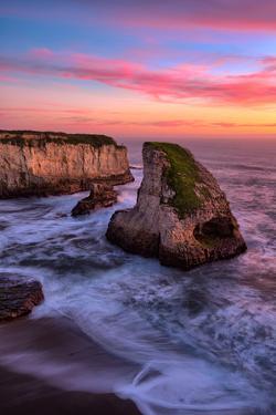 Sunset at Shark Fin Cove, Davenport, Santa Cruz, Pacific Ocean by Vincent James