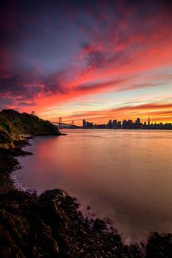 Sunset Treasure - San Francisco Bay Bridge and City at Sunset by Vincent James