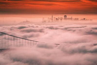 Sweet Fog City, Golden Gate Bridge, San Francisco Bay Area Sunrise by Vincent James