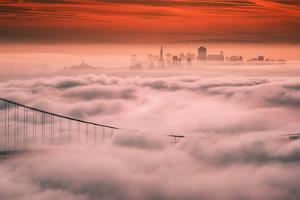 Sweet Fog City, Golden Gate Bridge, San Francisco Bay Area Sunrise by Vincent James