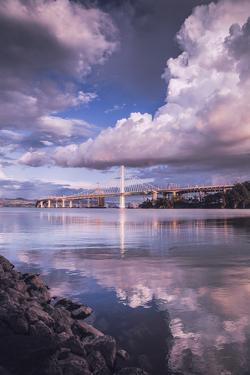 The Great Cloudescape - Oakland San Francisco Bay Bridge - East Bay Clouds by Vincent James