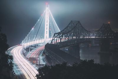 The Old and The New Bay Bridge, Oakland, San Francisco by Vincent James