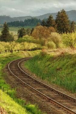 Tracks through Hood River, Oregon by Vincent James