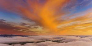 Visual Sky and Clouds at Sunset Over Livermore, Northern California by Vincent James