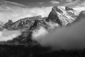 Yosemite Winter Morning Snow Beautiful  Black White Valley Hills by Vincent James