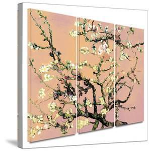 3-Piece Interpretation in Eggshell Almond Blossom 3 piece gallery-wrapped canvas by Vincent van Gogh
