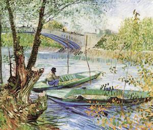 A Fisherman in His Boat by Vincent van Gogh