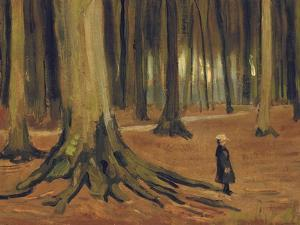 A Girl in a Wood, 1882 by Vincent van Gogh