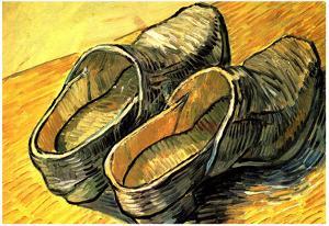 Vincent Van Gogh A Pair of Leather Clogs Art Print Poster