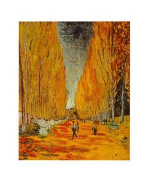 Allee des Alyscamps by Vincent van Gogh