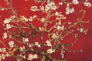 Almond Blossom - Red by Vincent van Gogh