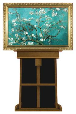 Almond Branches by Vincent van Gogh on Museum Easel Fine Art Lifesize Standup by Vincent van Gogh