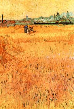 Vincent Van Gogh Arles View from the Wheat Fields Art Print Poster