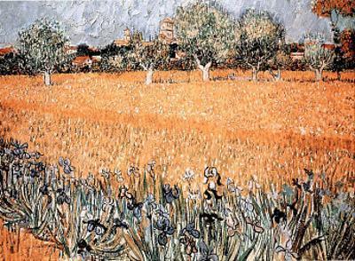 Arles with Irises by Vincent van Gogh