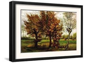 Autumn Landscape with Four Trees by Vincent van Gogh