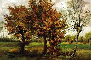Autumn Landscape with Four Trees by Vincent van Gogh