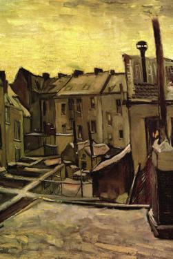 Backyards of Old Houses In Antwerp In The Snow by Vincent van Gogh