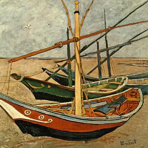 Barques Aux Saintes-Maries by Vincent van Gogh