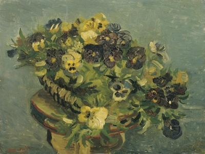 Basket of Pansies on a Small Table, 1887