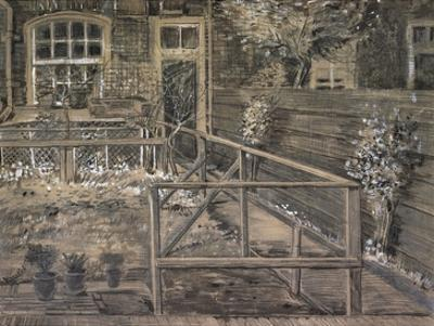 Behind the House of Sein by Vincent van Gogh