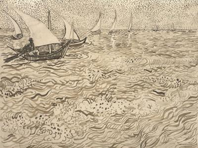 Boats at Saintes-Maries, 1888 by Vincent van Gogh
