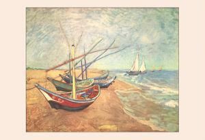 Boats at Saintes-Maries by Vincent van Gogh
