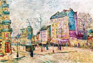 Vincent Van Gogh Boulevard de Clichy Art Print Poster