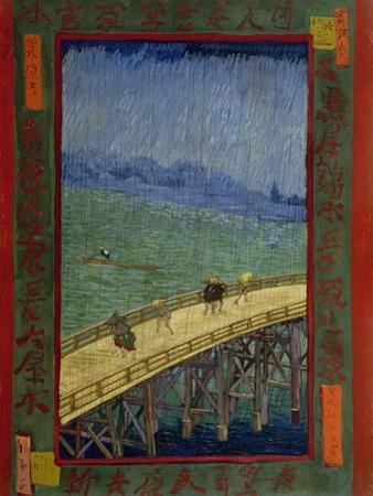 Bridge in the Rain (After Hiroshig), 1887 by Vincent van Gogh