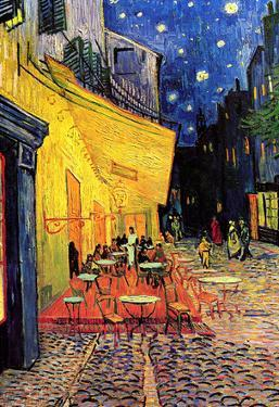 Vincent Van Gogh Cafe Terrace at Night Art Poster Print