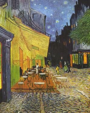 Vincent Van Gogh (Cafe Terrace at Night) Art Poster Print