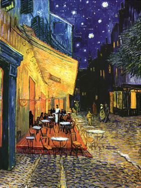 Vincent Van Gogh Cafe Terrace At Night Art Print Poster