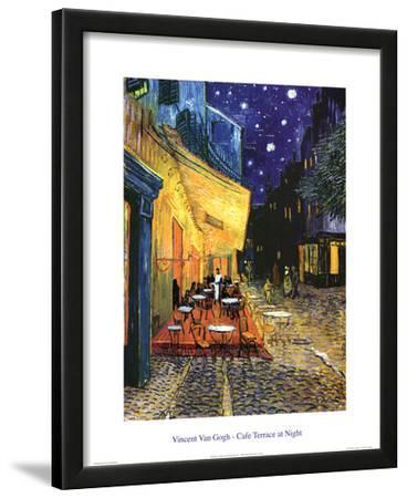 Vincent Van Gogh Cafe Terrace At Night Art Print Poster