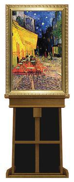 Cafe Terrace at Night by Vincent van Gogh on Museum Easel Fine Art Lifesize Standup by Vincent van Gogh