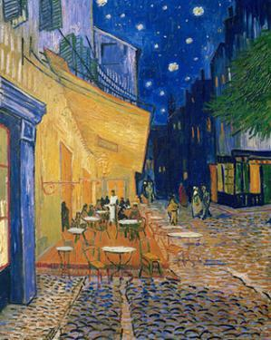 Cafe-terrace at night (Place du forum in Arles). Oil on canvas (1888) Cat. 232. by VINCENT VAN GOGH