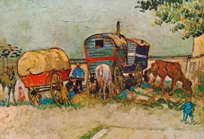 Caravans Encampment of Gypsies by Vincent van Gogh
