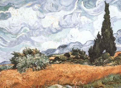 Champ Aux Cypress by Vincent van Gogh