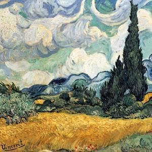 Champ De Blé Avec Cypres by Vincent van Gogh
