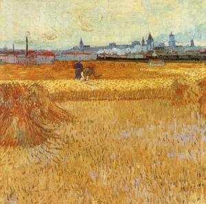 Champ De Blé Avec Vue Sur Arles by Vincent van Gogh
