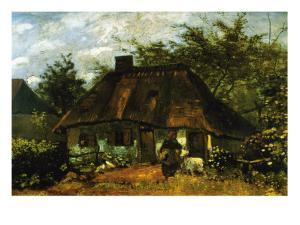 Cottage by Vincent van Gogh