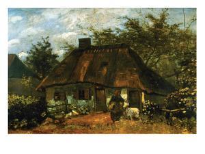 Cottage by Vincent van Gogh