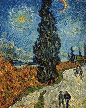 Country Road in Provence by Night, c.1890 by Vincent van Gogh