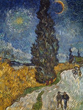 Country Road with Cypress and Star, 1890 by Vincent van Gogh