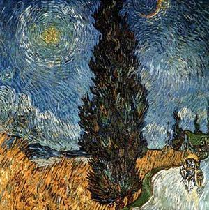 Country Road With Cypress And Stars by Vincent van Gogh