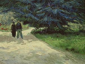 Couple in the Park, Arles, c.1888 by Vincent van Gogh