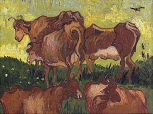 Cows, c.1890 by Vincent van Gogh