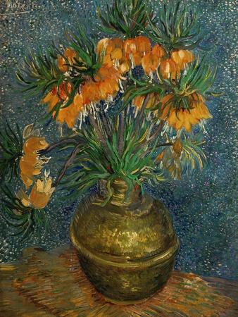 Crown Imperial Fritillaries in a Copper Vase, c.1886